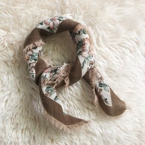 Vintage Floral Italian House Of Fraser Wool Scarf